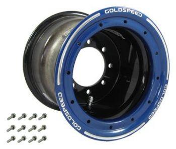 GS: 8X8 4/110/115 3+5 B BEAD LOCK BLACK - BLUE RING
