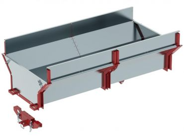 Cargo box for ATV timber trailer