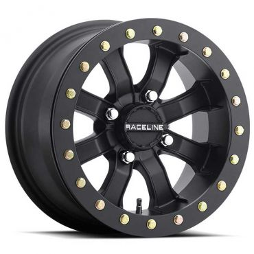 "Raceline - BEADLOCK MAMBA Matte Black 15"""