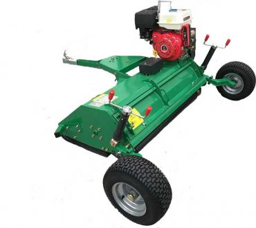 ATV / Quad Bike Tow Behind 15HP Flail Mower / Topper with E-start + openable top flap