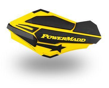 POWERMADD HANDGUARDS YELLOW/BL SUZUKI