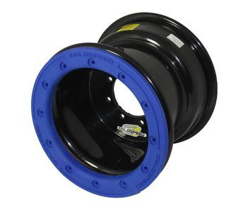 GS: 9X6 4/110/115 2B+4N 2X BL 2X BEADLOCK BL-BLUE PC RINGS