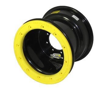 GS: 9X6 4/110/115 2B+4N 2X BL 2X BEADLOCK BL-YELLOW PC RINGS