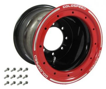 GS: 9X6 4/110/115 2B+4N 2X BL 2X BEADLOCK BLACK-RED RINGS