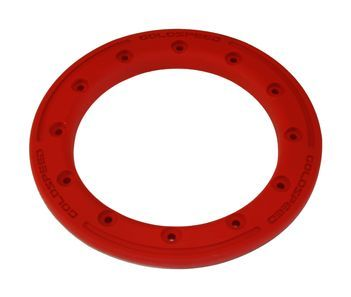 GS:BEAD-LOCK RING 9-INCH RED POLYMER CARBON + BOLTS